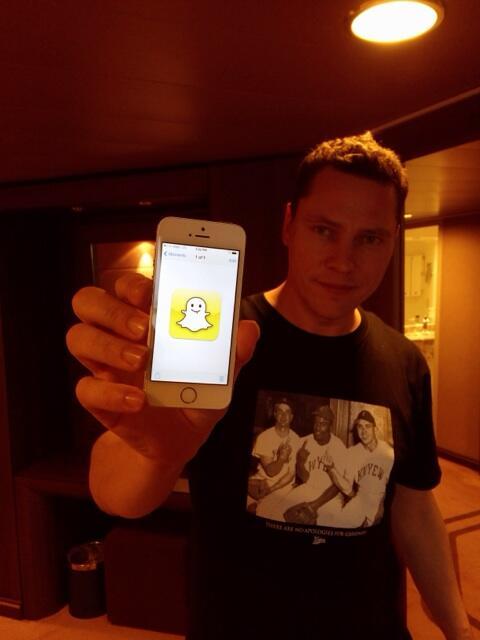 Even Tiesto has a Snapchat!