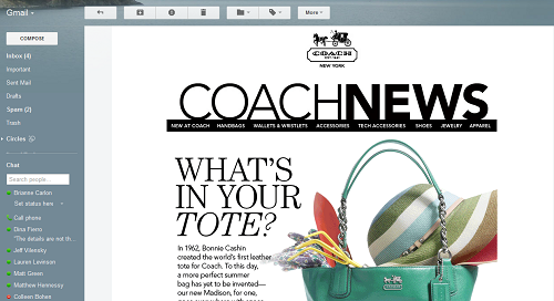 COACH Email Lead Nurturing Gets Dynamic with Retail Personalization