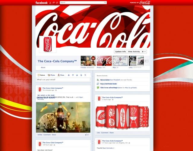 cocacola facebook timeline mockup Mashable