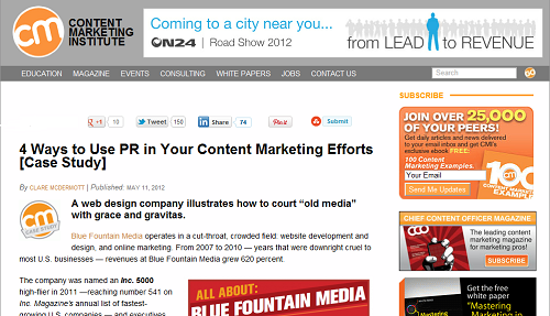 conent marketing headlines online