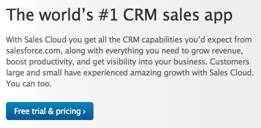 value proposition call to action from salesforce