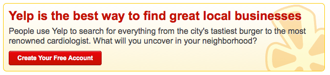 cta with good value proposition from yelp