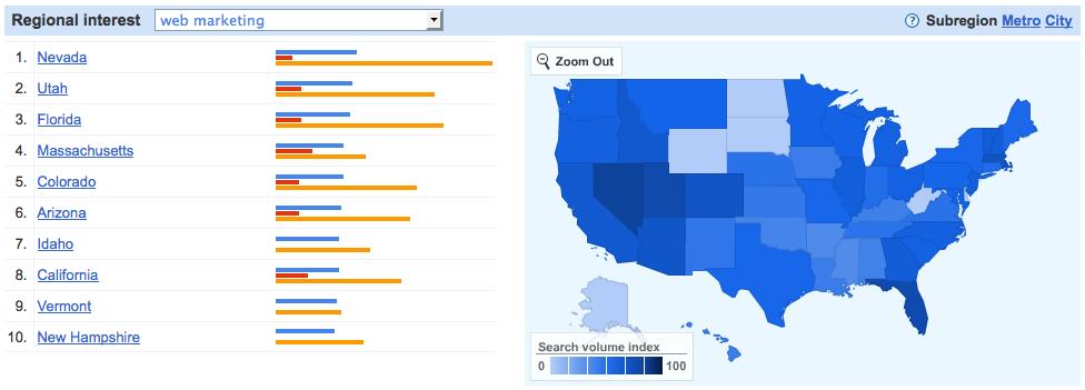 Google insights map 1