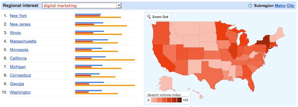 Google insights map 2