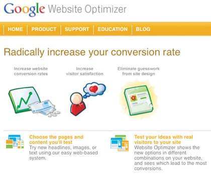 Using Google Website Optimizer with HubSpot