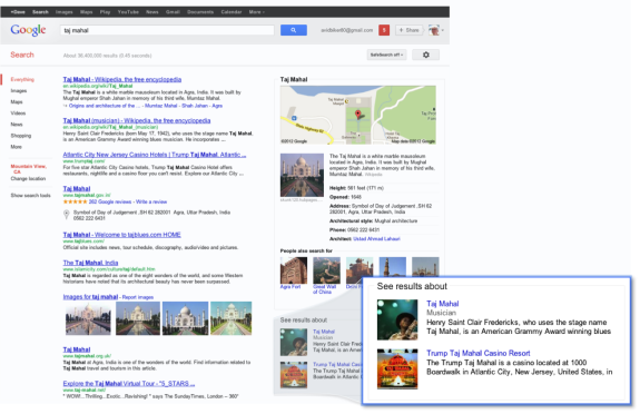Google Breaking News Knowledge Graph