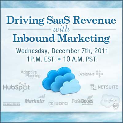 Inbound Marketing Webinar Series - SaaS Marketing