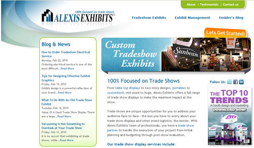 HubSpot Custom Design - Alexis Exhibits