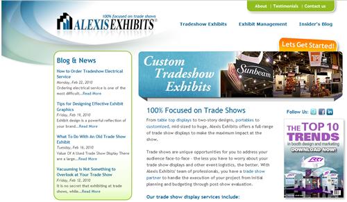 HubSpot Custom Design - Alexis Exhibits