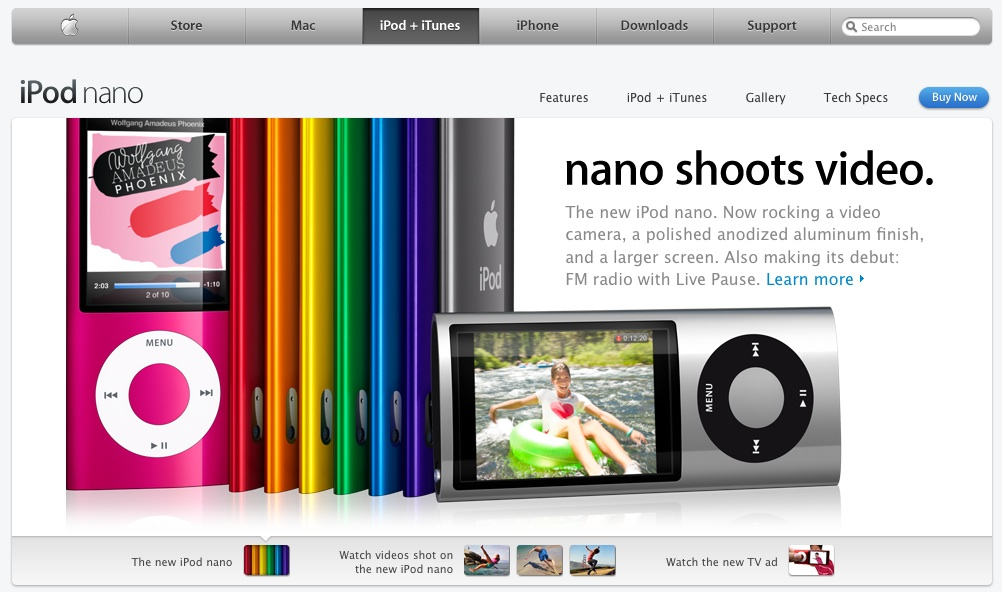 Social Media - New iPod Nano w/video: so much for the Flip!