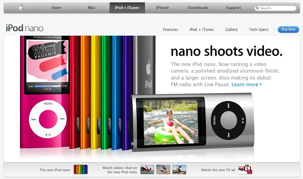Social Media - New iPod Nano w/video: so much for the Flip!