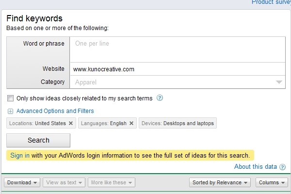 SEO Keyword Assessment Audit