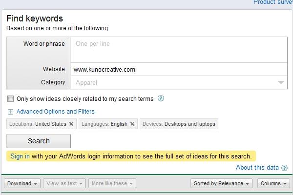 SEO Keyword Assessment Audit