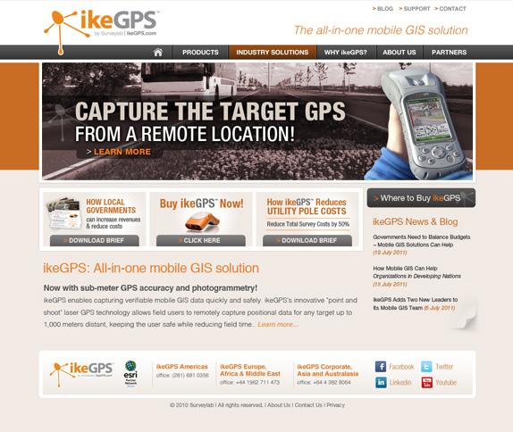 website menu navigation