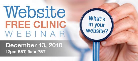 Inbound Marketing Webinar Series: Website Free Clinic