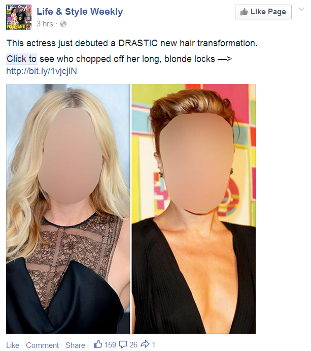 Facebook posts like this will be penalized for their short bounce rate.