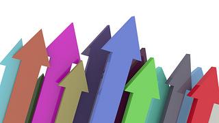 colored upward arrows