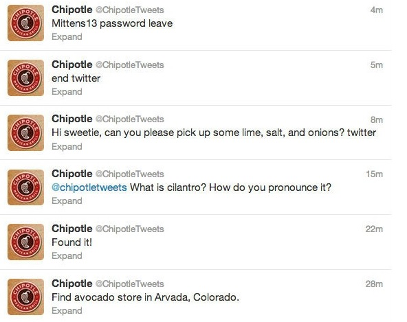 chipotle tweets