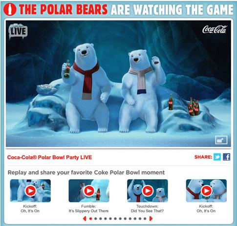 coca cola content polar bears