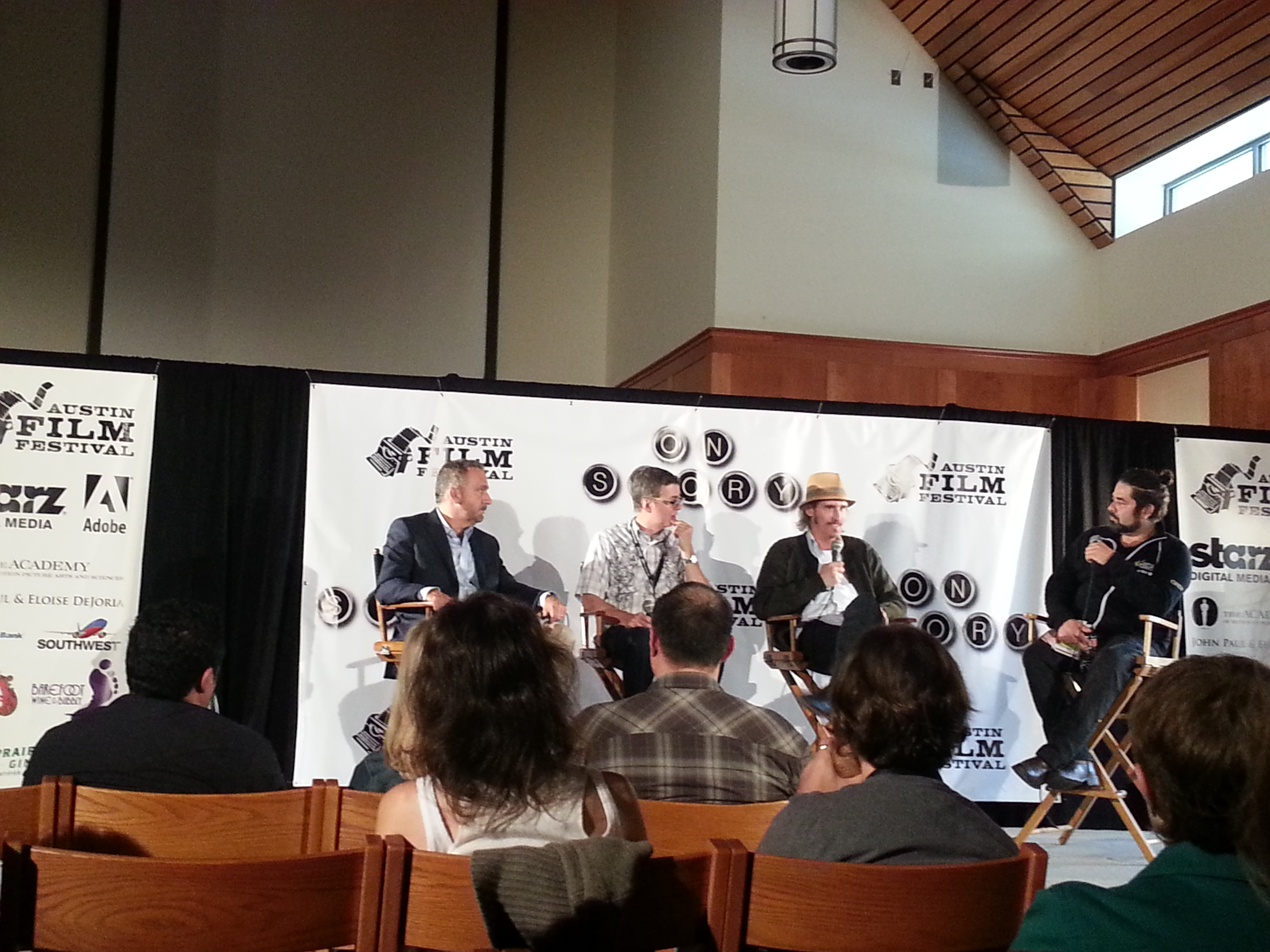 Your photo attached to your post will depend on the event. The events and panels at the Austin Film Fest were much more intimate and accessible
