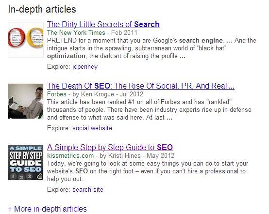 in depth articles google