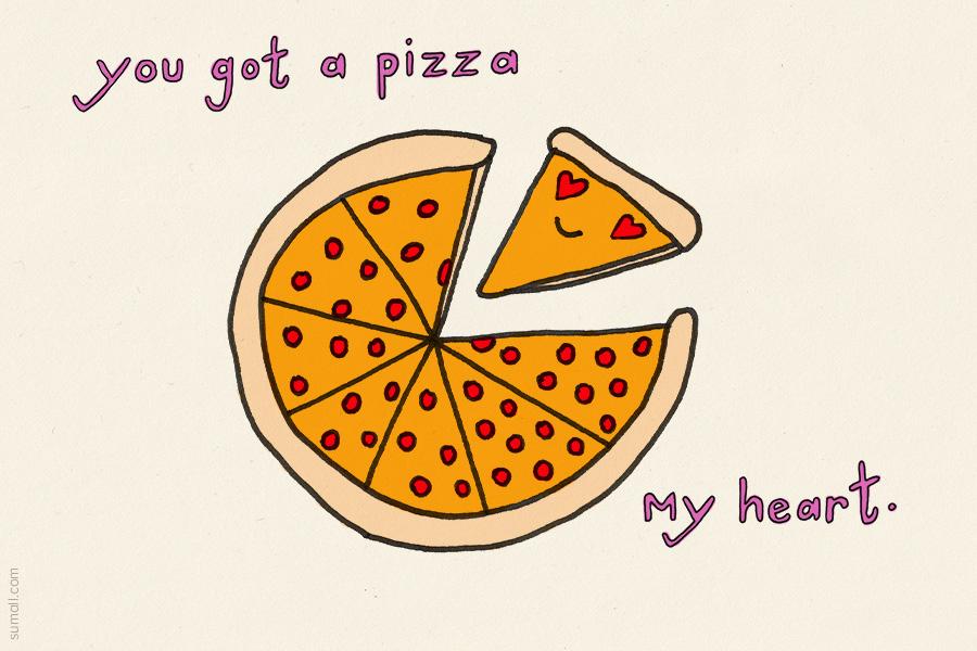 sumall pizza my heart valentine