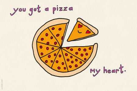 sumall pizza my heart valentine