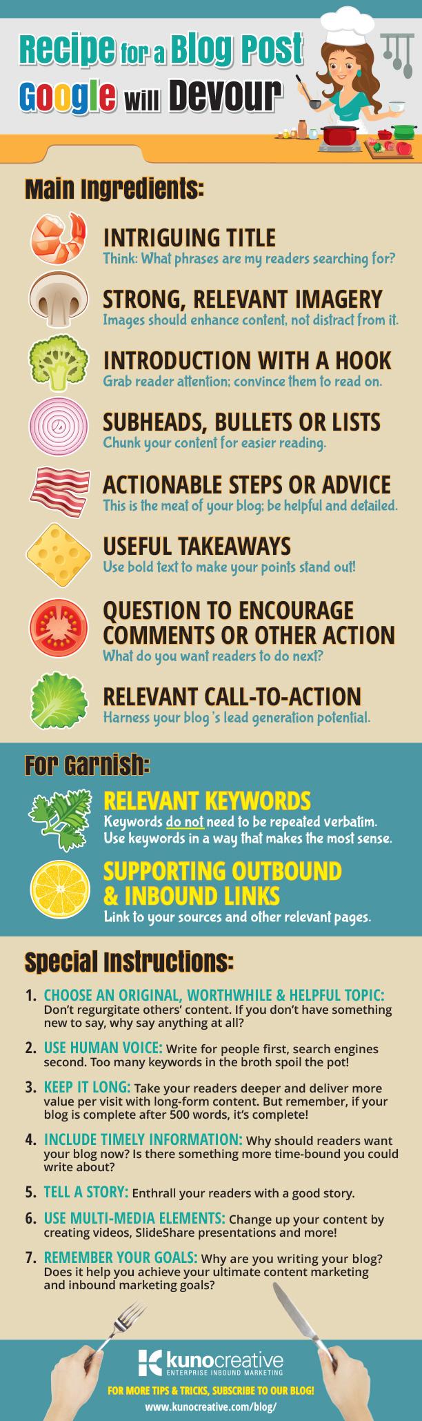 blog recipe kuno creative infographic