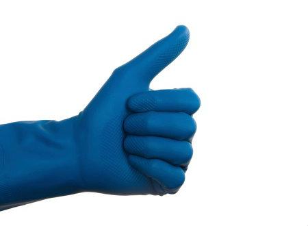 hand glove thumbs up