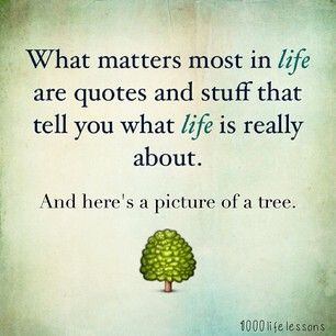 what matters most in life