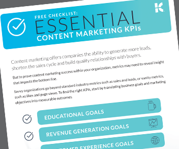 Essential Content Marketing KPI Checklist