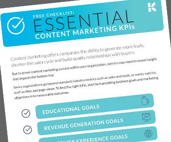 Essential Content Marketing KPI Checklist