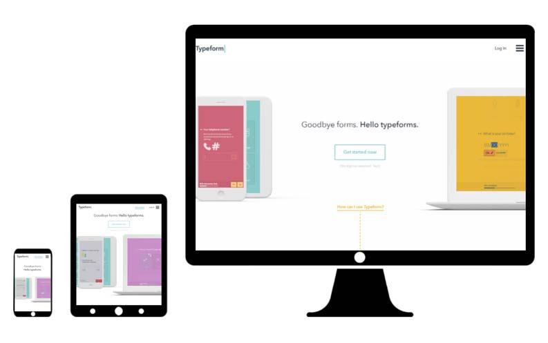 typeform desktop web design