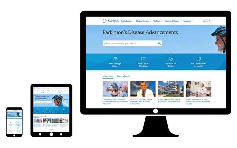 scripps health web design mobile
