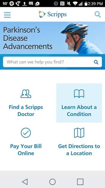 scripps health business web design