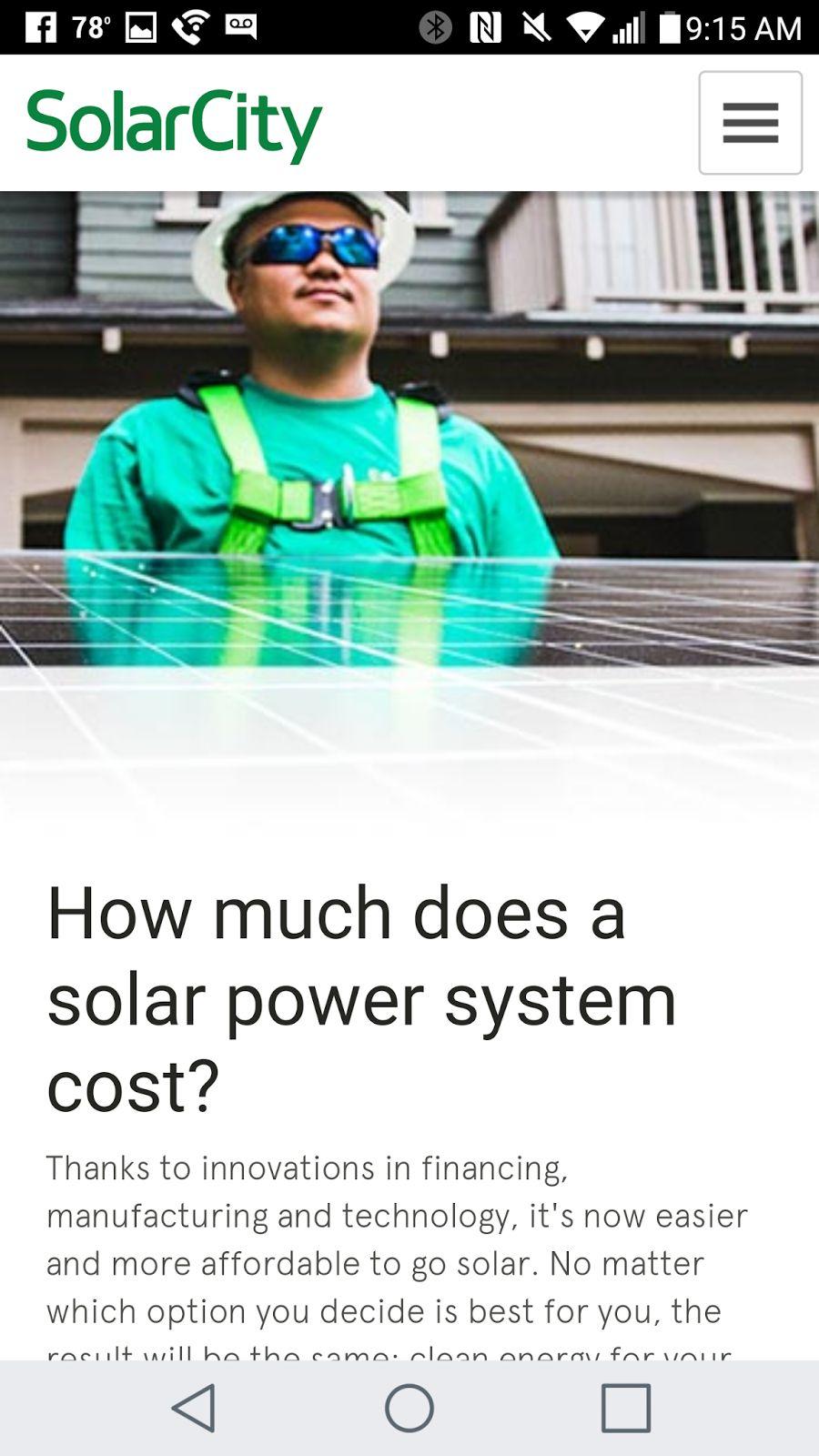 solar city mobile web design