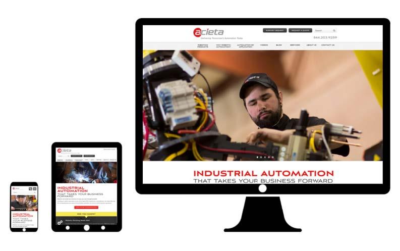 acieta desktop web design