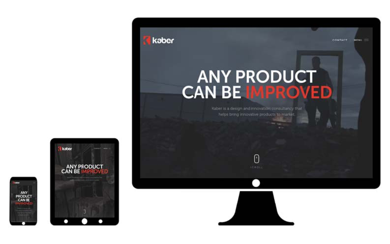 kaber desktop web design