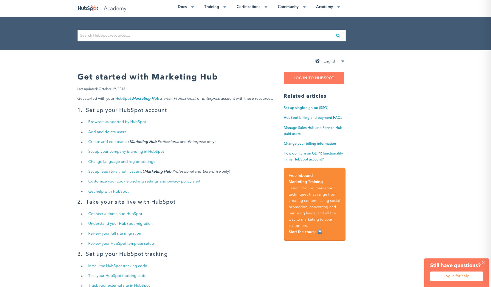 HubSpot Knowledge Academy