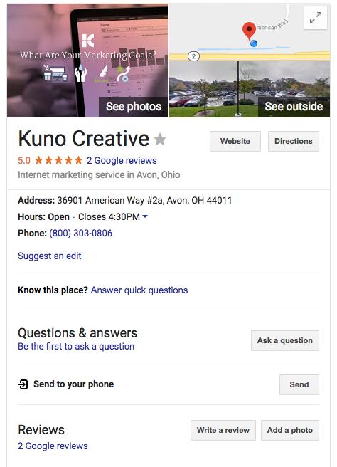 Google Business Kuno Creative