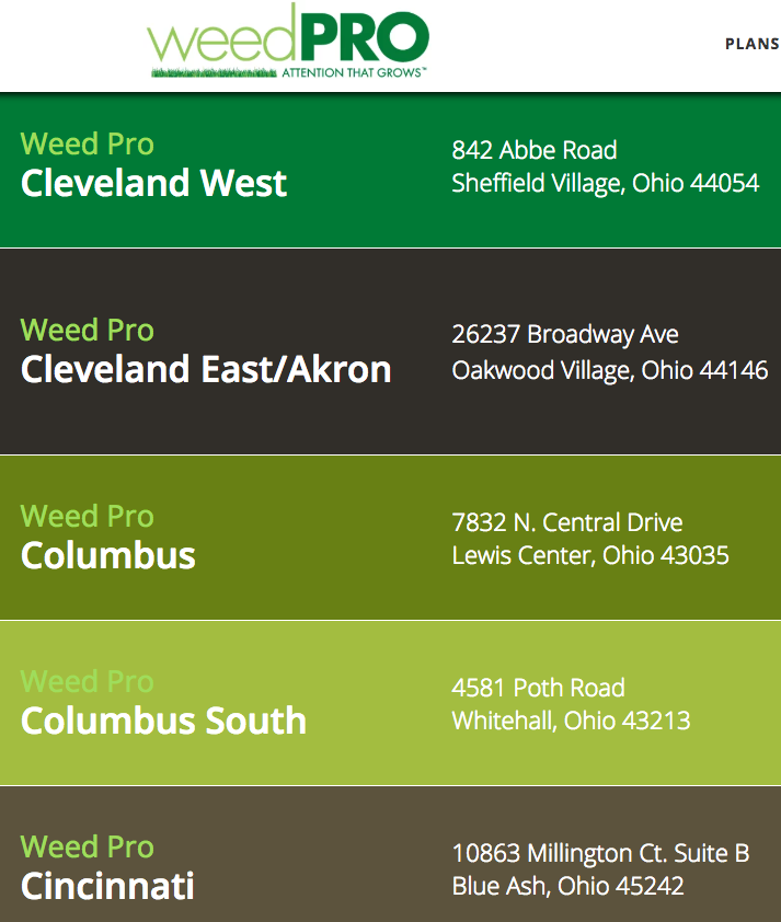WeedPro Locations