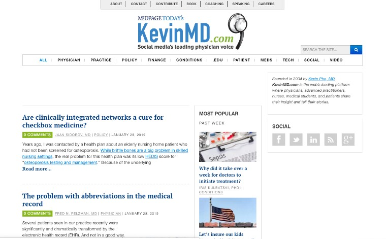 Author Byline in Healthcare Blogs