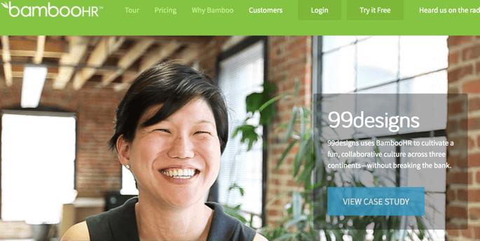 BambooHR technology marketing