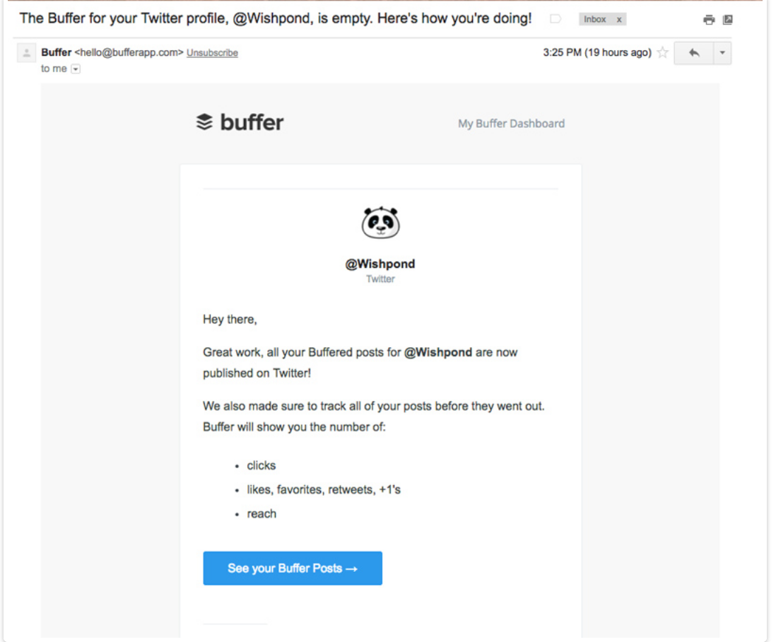 Buffer targeted marketing