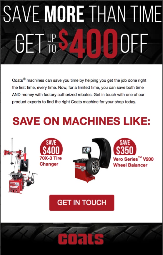 Coats Promotional Email Marketing