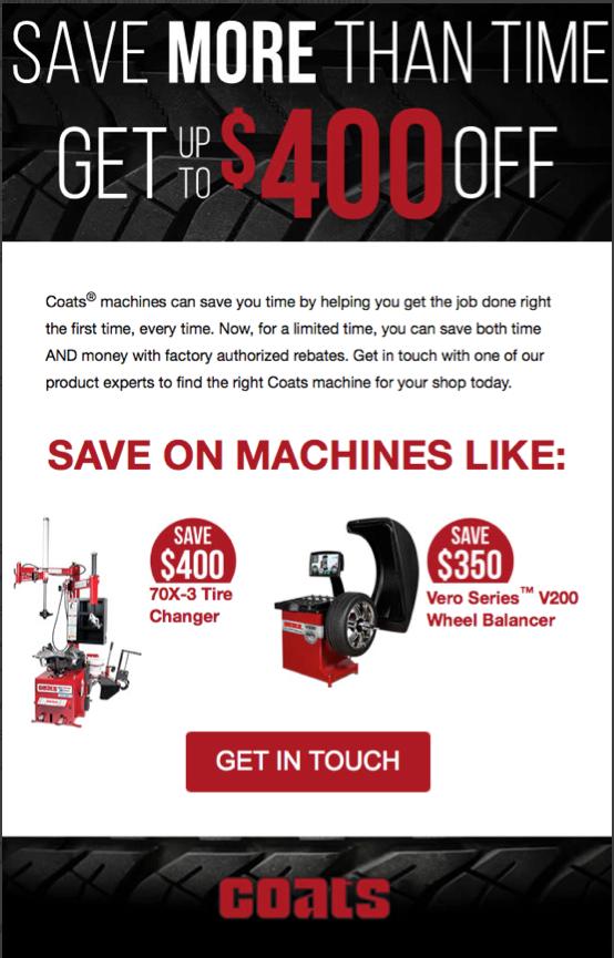 Coats Promotional Email Marketing