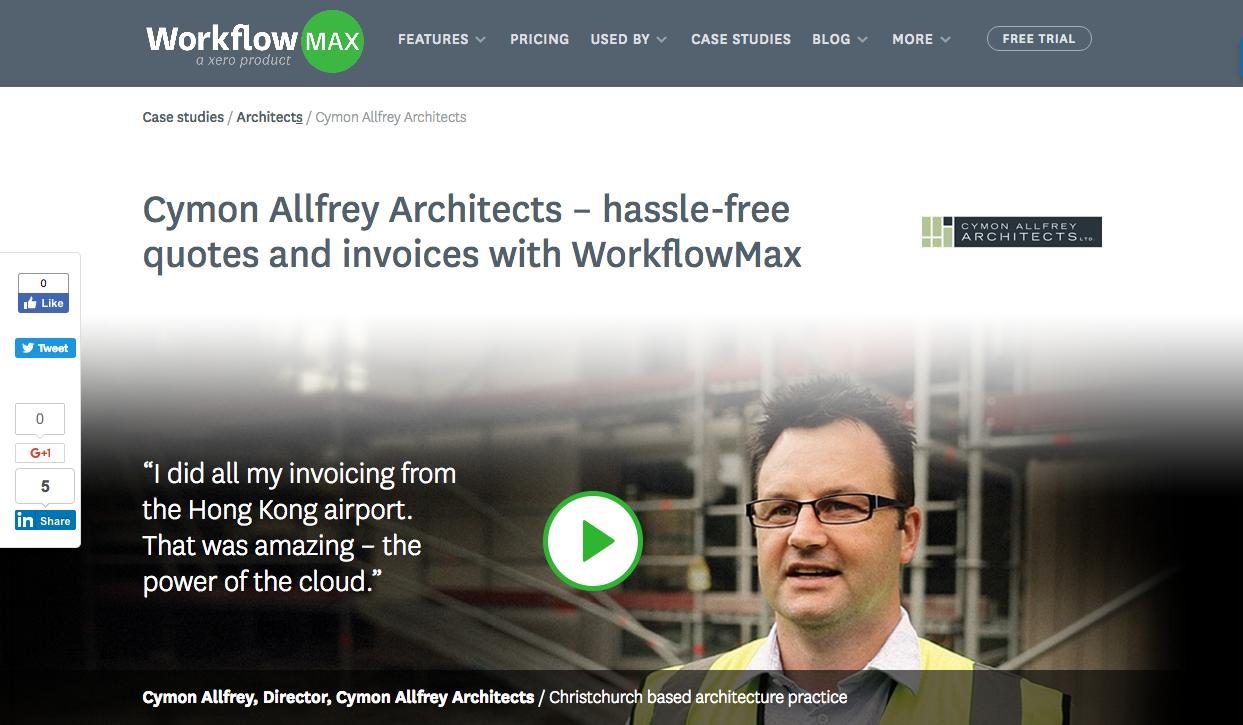 Cymon Allfrey Architects Social Proof Video