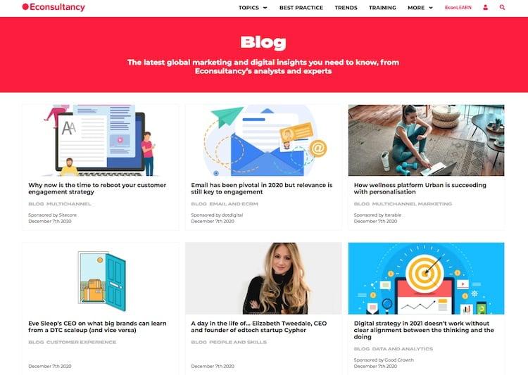 Econsultancy blog