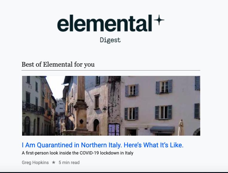 Elemental email image