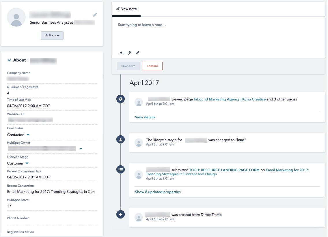 HubSpot-Contact-Record